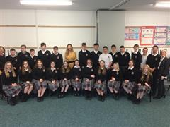 DWTS Ireland Star Alannah Beirne Joined the Irish school of Etiquette to present workshop to TY