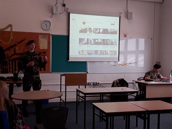 Defence Forces visit KTCS