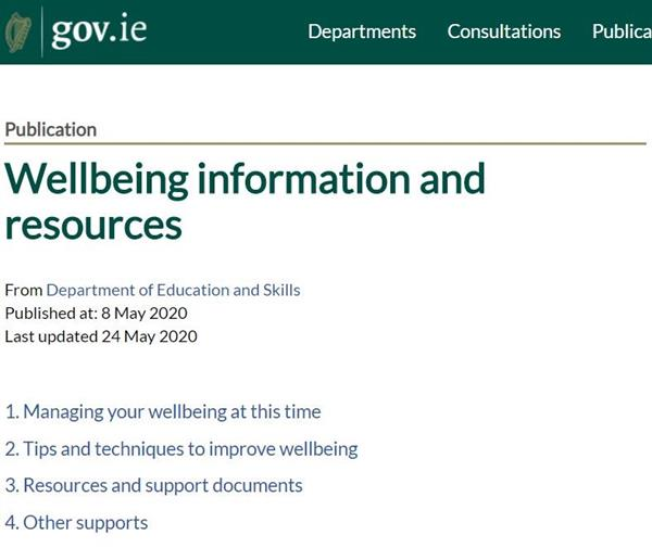 Wellbeing information and resources